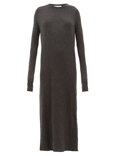 Raey Crew-Neck Ribbed Cashmere Dress