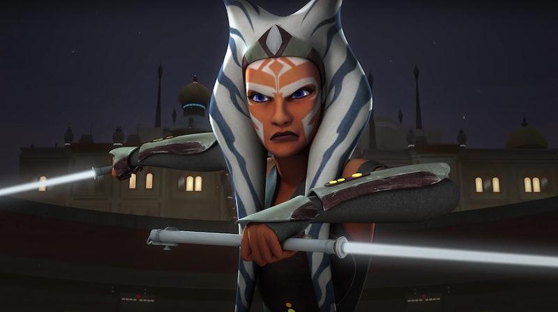 Ahsoka Tano in 'Star Wars Rebels,' via screenshot.