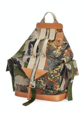 Eye/Loewe/Nature Patchwork Camo Backpack