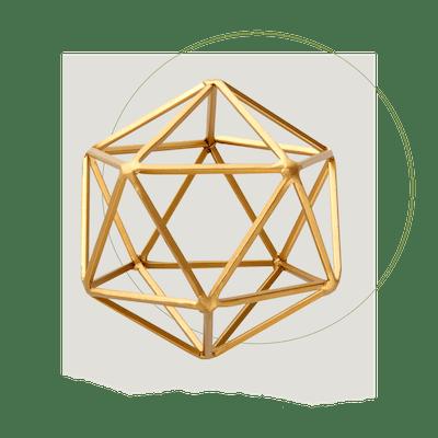 Better Homes & Gardens Iron Geometric Tabletop Sculpture