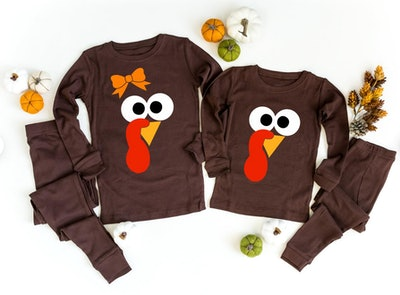 Turkey Face Thanksgiving Pajamas