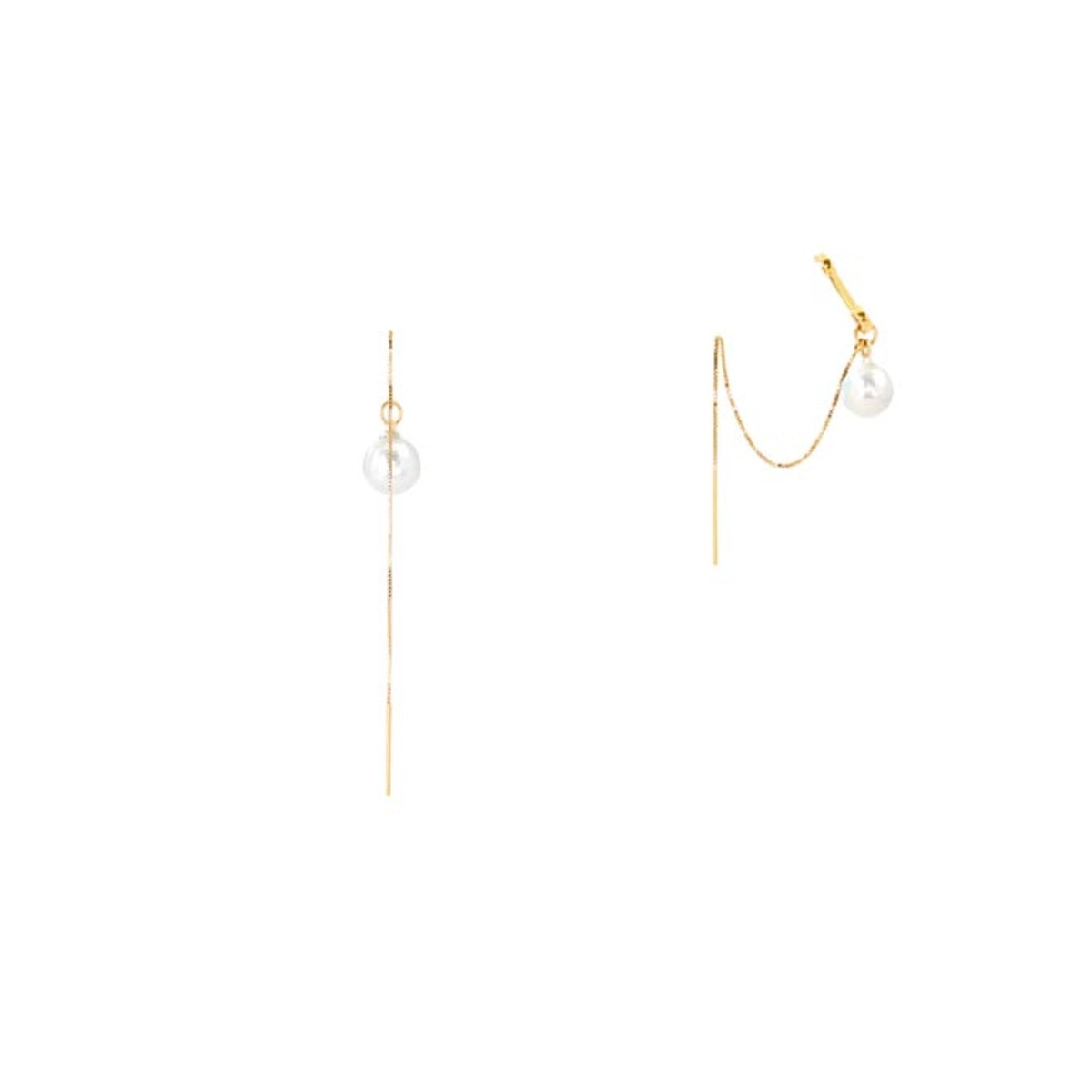The Prima Ear Cuff and Pearl Threaders Set