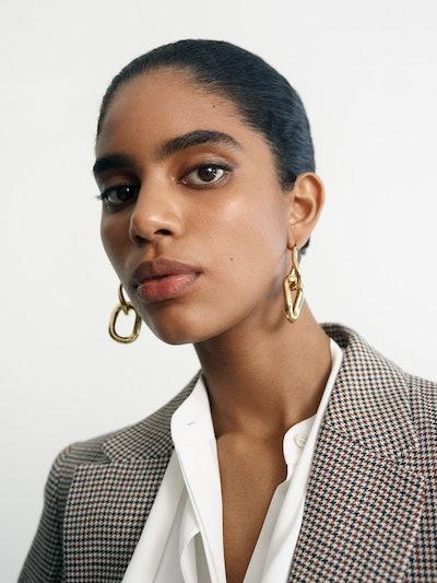 Mejuri Le Chain Earring Gold Vermeil