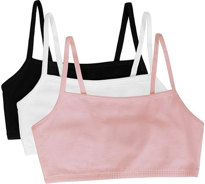 Fruit of the Loom Cotton Pullover Sport Bra (3-Pack)
