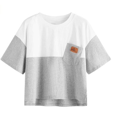 SweatyRocks Color Block T-Shirt