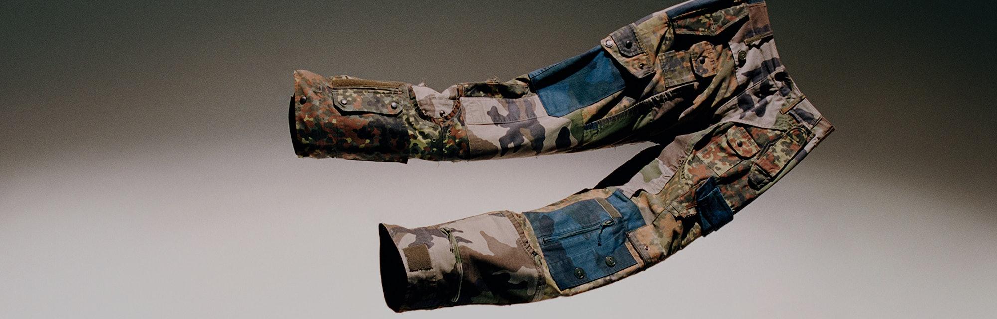 Loewe Patchwork Camo Cargo Pants