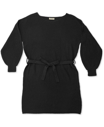 Full Circle Trends Plus Size Belted Sweater Dress
