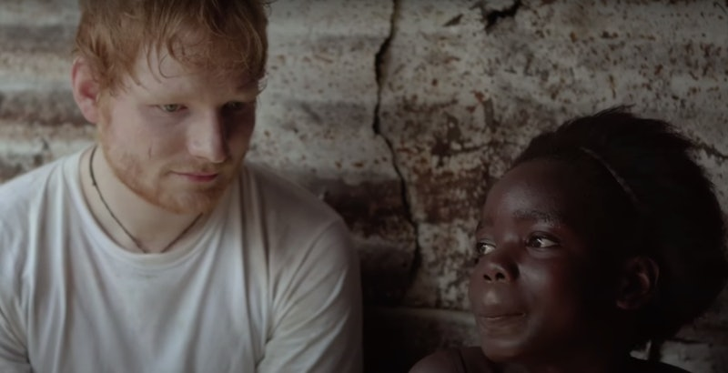 Ed Sheeran with Peaches, a little girl from Liberia