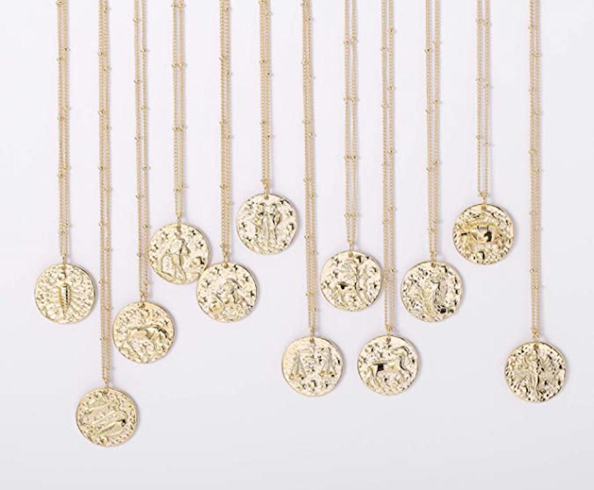 Fremttly Zodiac Coin Necklace