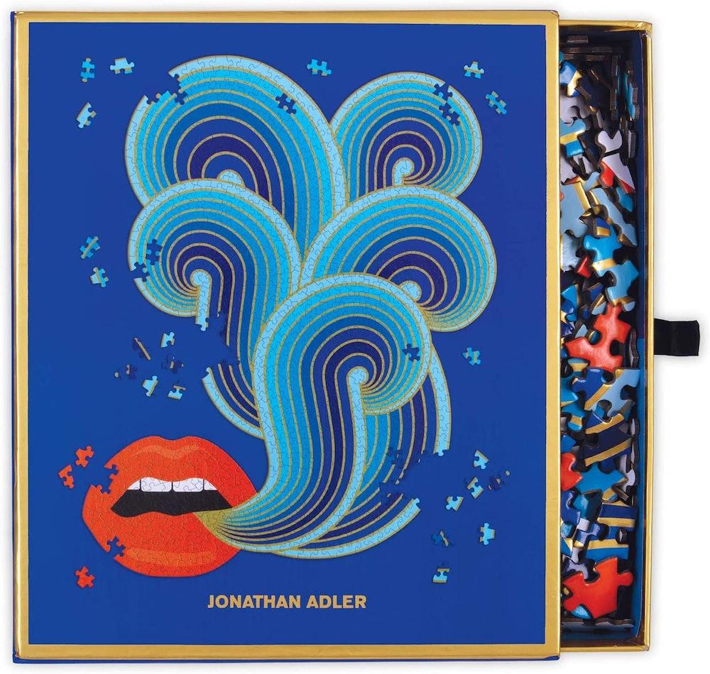 Galison Jonathan Adler Lips Shaped Jigsaw Puzzle