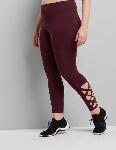 LIVI Plus Size Legging With Crisscross Hem