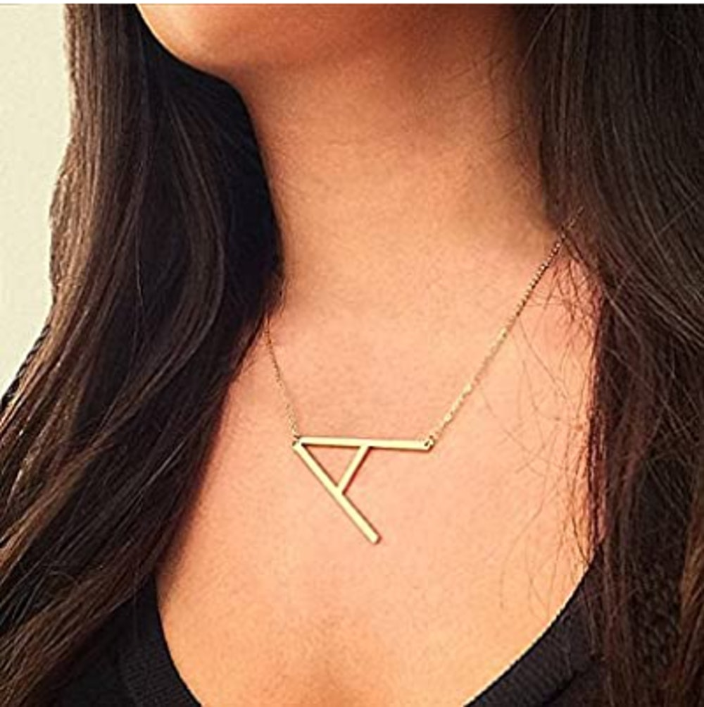 RINHOO Gold Initial Necklace
