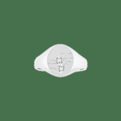 Virgo Ring Silver