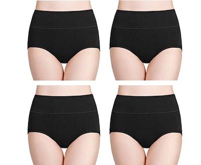 wirarpa High Waist Full Coverage Underwear (4-Pack)
