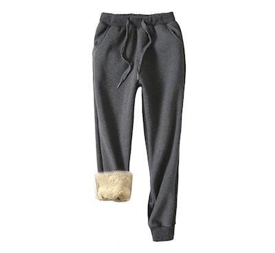 Yeokou Sherpa Lined Sweatpants