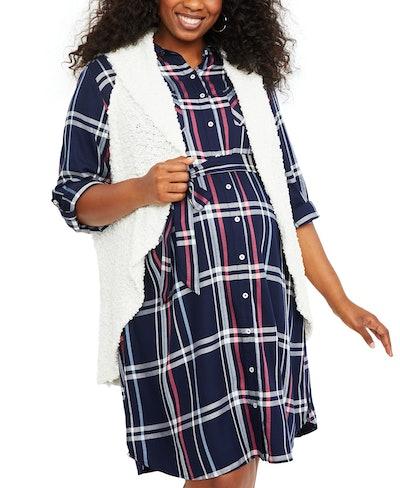 Motherhood Maternity Plus Size Sweater Vest