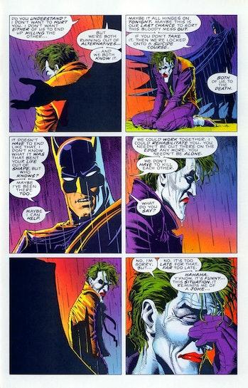 batman the killing joke panel did batman kill joker