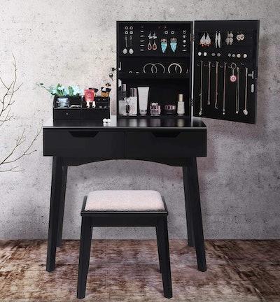 BEWISHOME Makeup Vanity Set