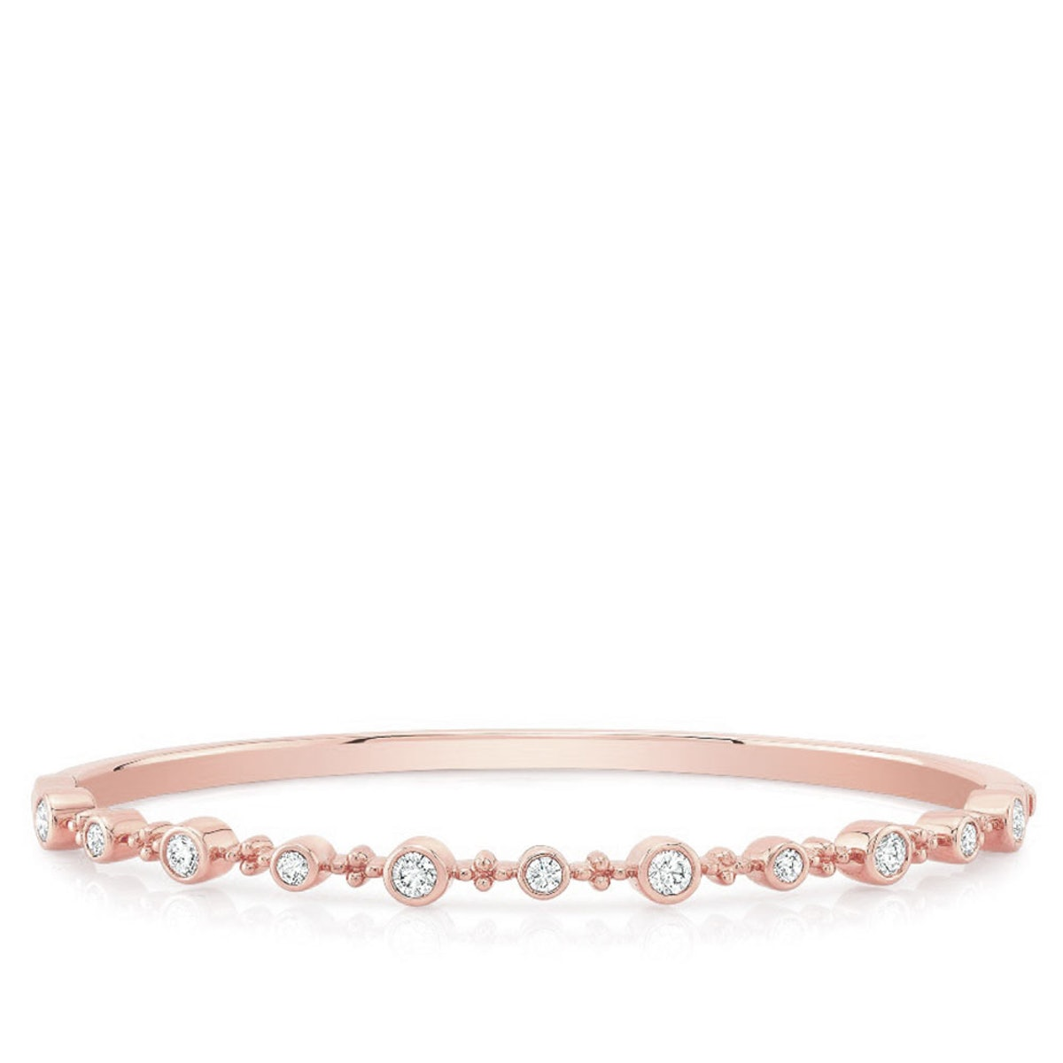 Forevermark Tribute™ Collection Diamond Bangle in 18K Rose Gold