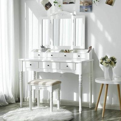VASAGLE Vanity Makeup Set
