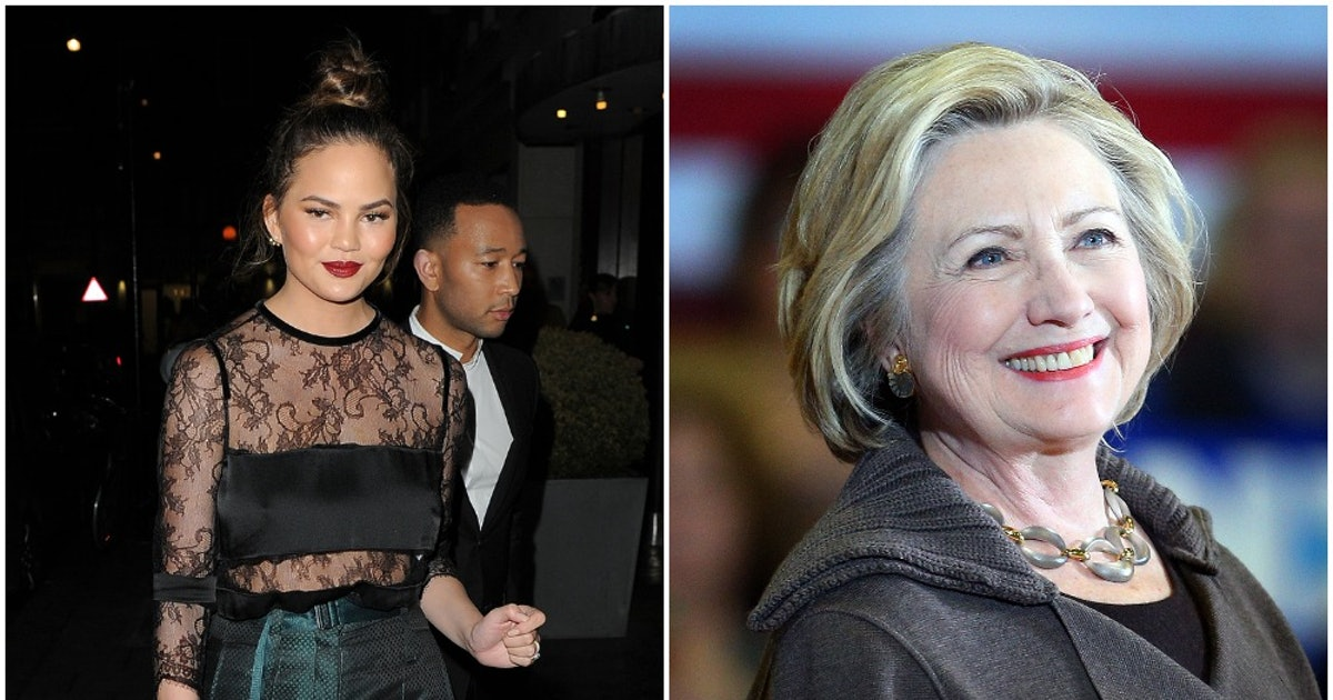 Hillary Clinton Responded To Chrissy's Pregnancy Loss Essay & Her Reaction Was PRICELESS