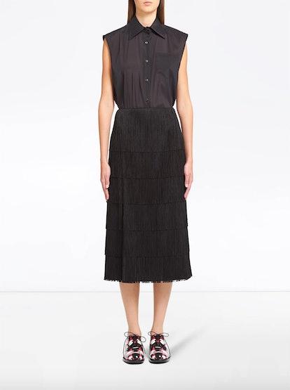 Prada Fringed Midi Skirt