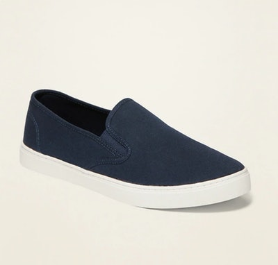 Canvas Slip-Ons for Women in Navy Blue