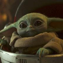 Baby Yoda in 'The Mandalorian' Season 2, via Disney+ press site.
