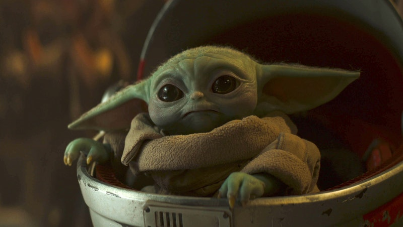 Baby Yoda in 'The Mandalorian' Season 2, via Disney+ press site.