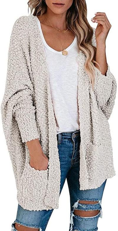 Merokeety Soft Chunky Knit Cardigan