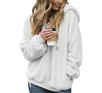 Dokotoo Fuzzy Hooded Sweatshirt