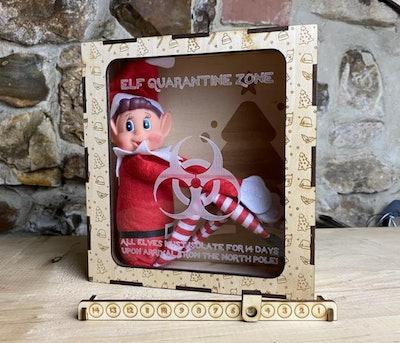Elf On The Shelf Coronavirus/COVID Isolation Quarantine Box