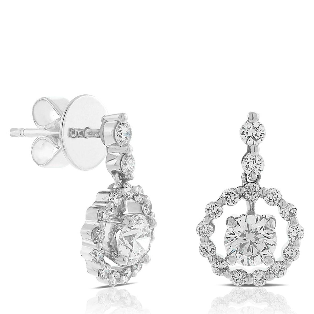 Signature Forevermark Diamond Circle Earrings in 18K White Gold