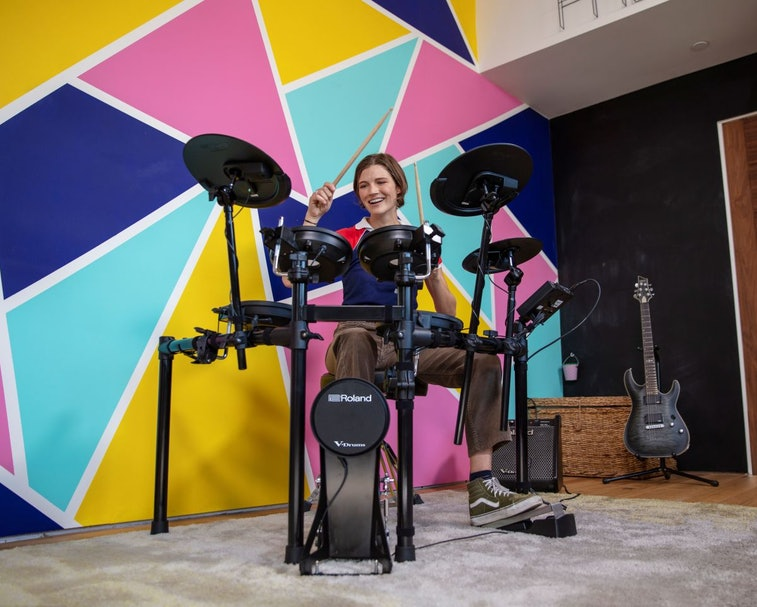 Roland's new V-Drums create acoustic sounds in digital form.