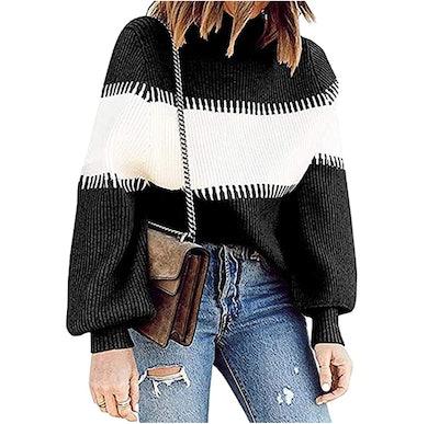 PRETTYGARDEN Striped Sweater