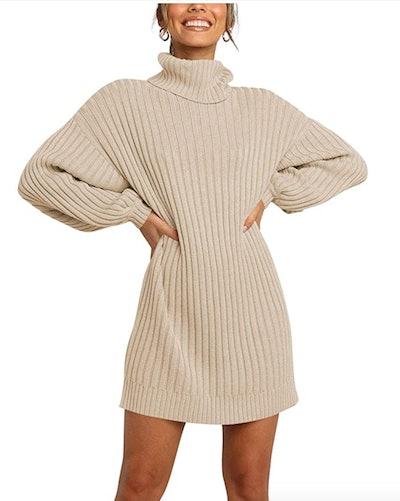 MILLCHIC Oversized Turtleneck Dress