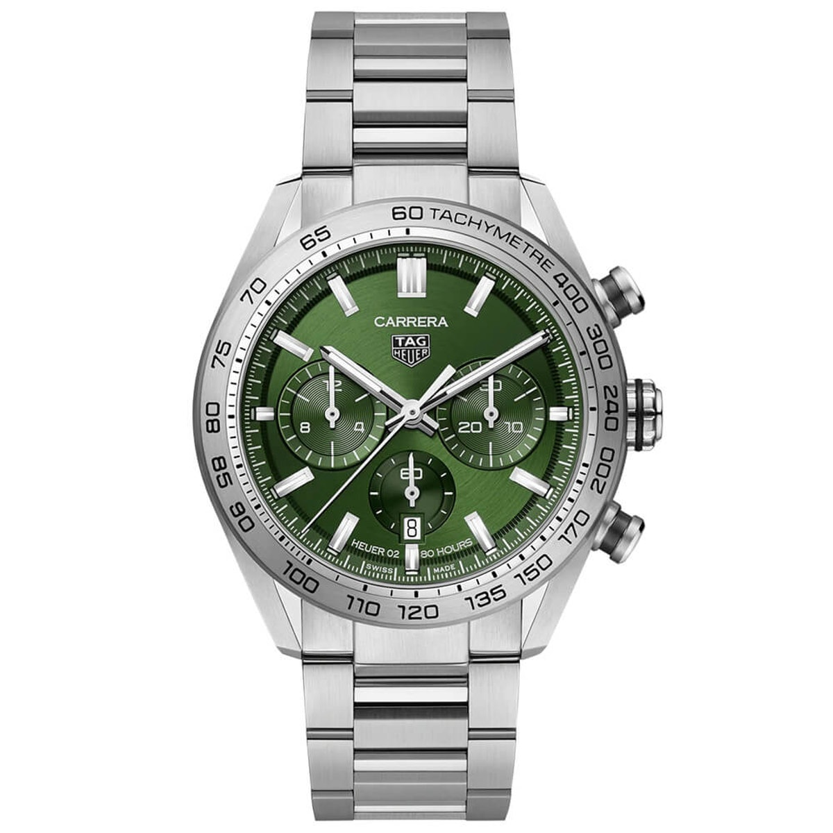 TAG Heuer Carrerra Heuer 02 Green Dial Chronograph Watch, 44mm