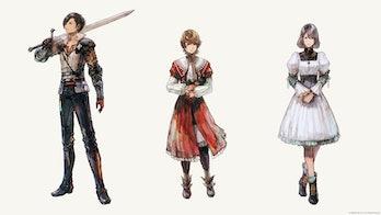 final fantasy 16 cahracters clive joshua jill
