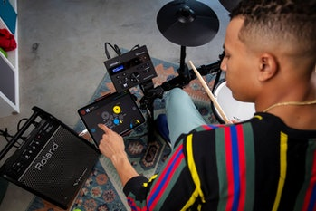 Roland's new V-drums electronic drums create digital audio.