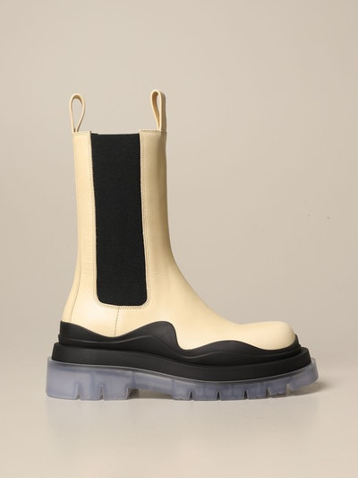 Tire Chelsea boots in leather