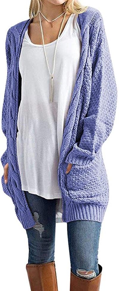 Traleubie Boyfriend Knit Cardigan