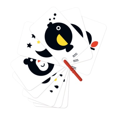 Banana Panda High Contrast Flash Cards On Ring (0+)