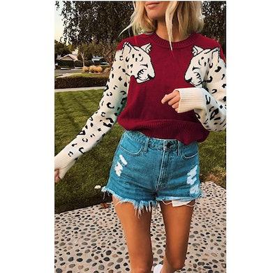 Angashion Leopard Sweater