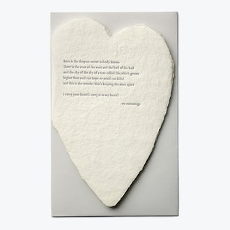 Oblation Papers & Press Single Card Deckled Heart