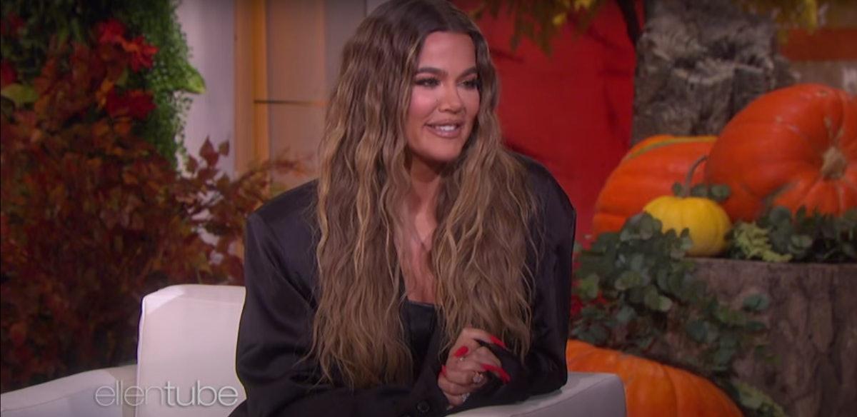 Khloe Kardashian appears on The Ellen DeGeneres Show.