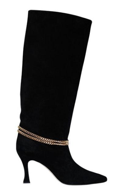 Geraldine Suede Knee High Boots