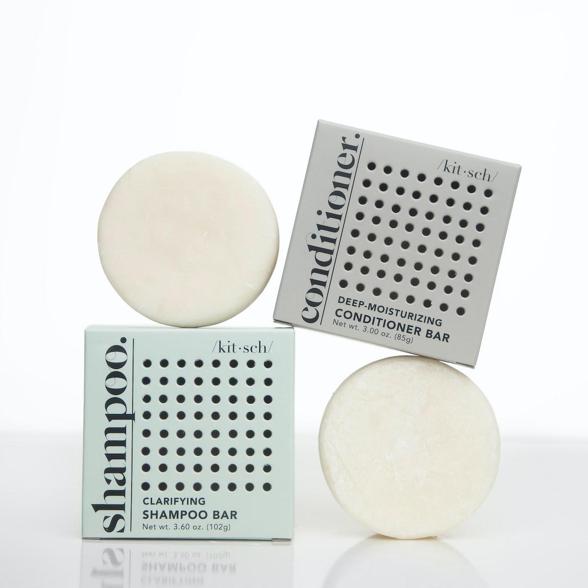 Clarifying Shampoo Bar & Deep-Moisturizing Conditioner Bar