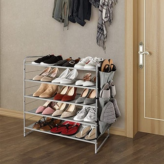 Simple Trending 5-Tier Stackable and Expandable Shoe Rack