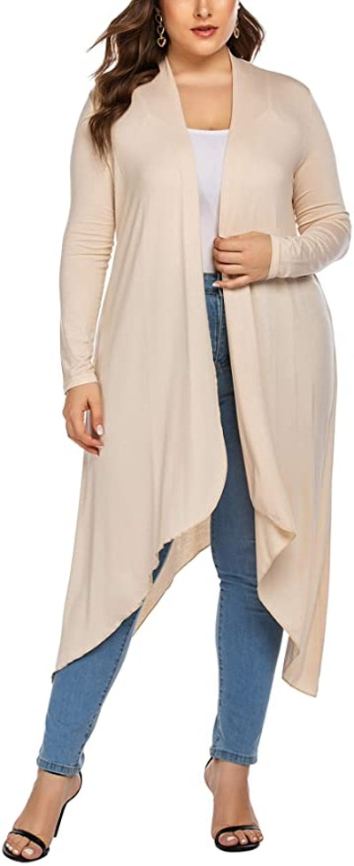 IN'VOLAND Plus-Size Lightweight Long Duster