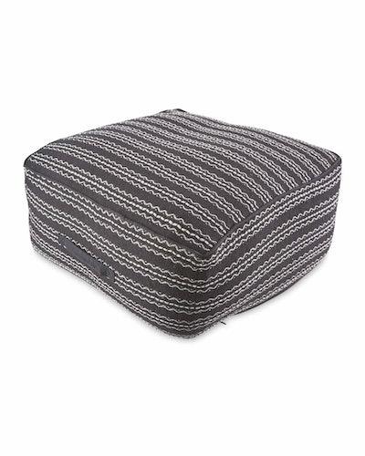 Black/White Striped Floor Cushion